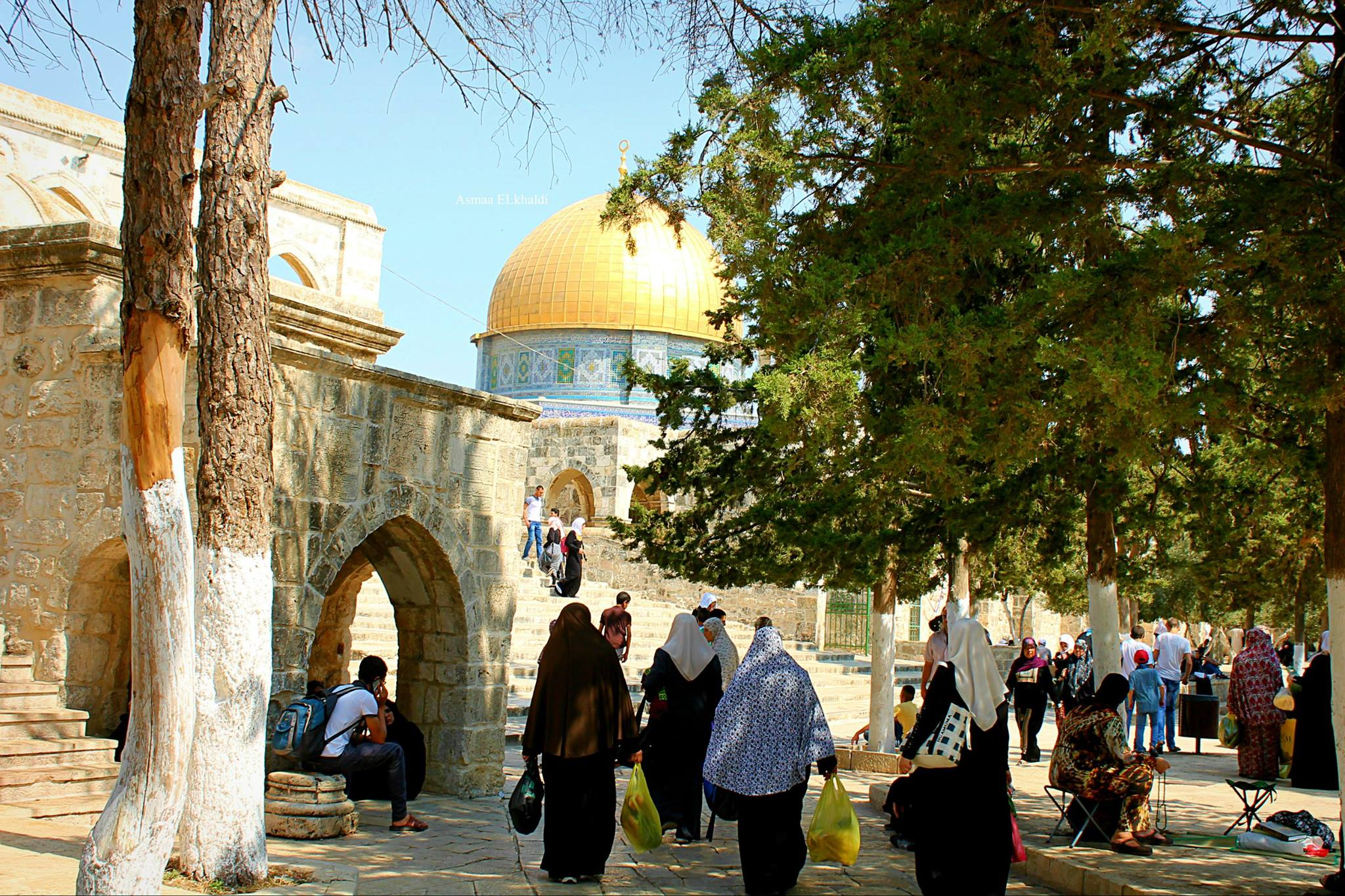 Leading up to Al-Aqsa Mosque