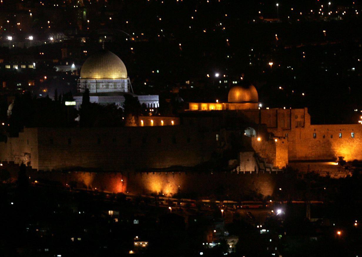 Jeruslaem at night