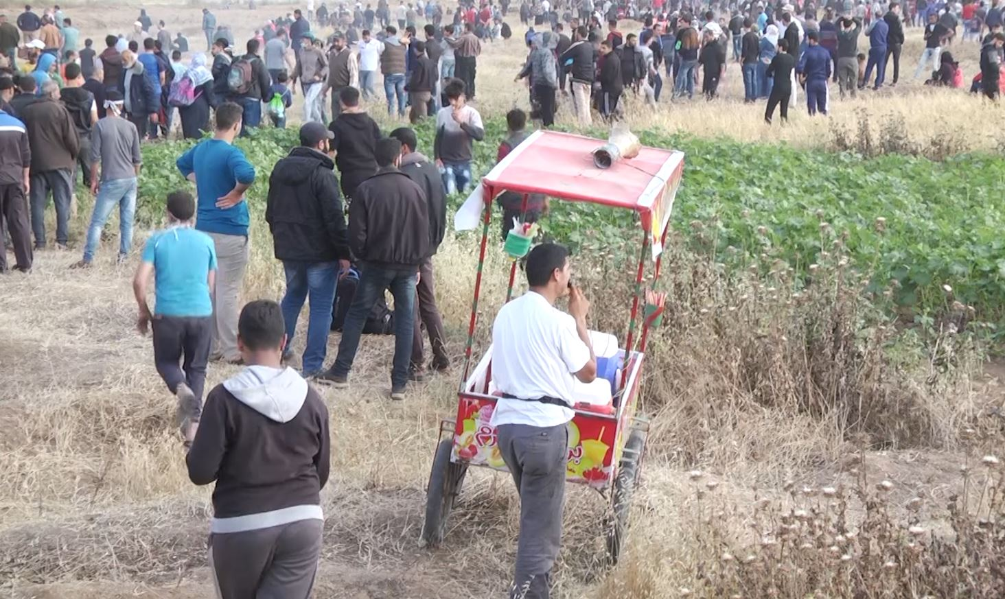 A vendor at Gaza's Great Return March