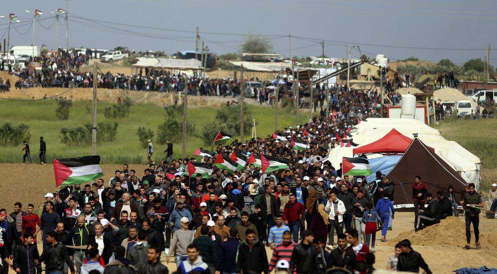 Masses protest in Gaza
