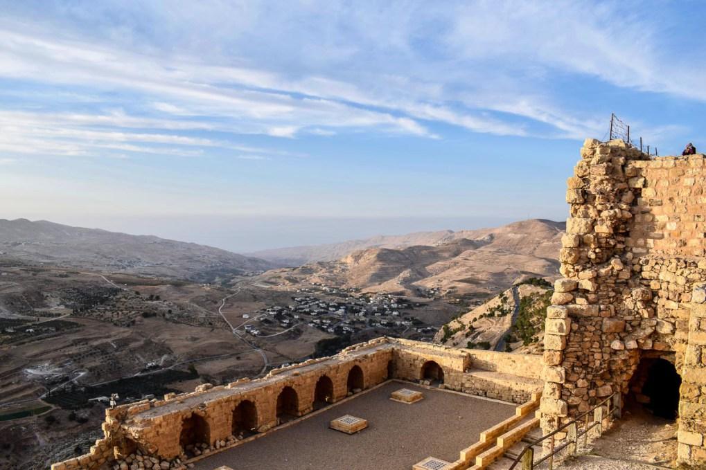 View of Palestine from al-Karak castle