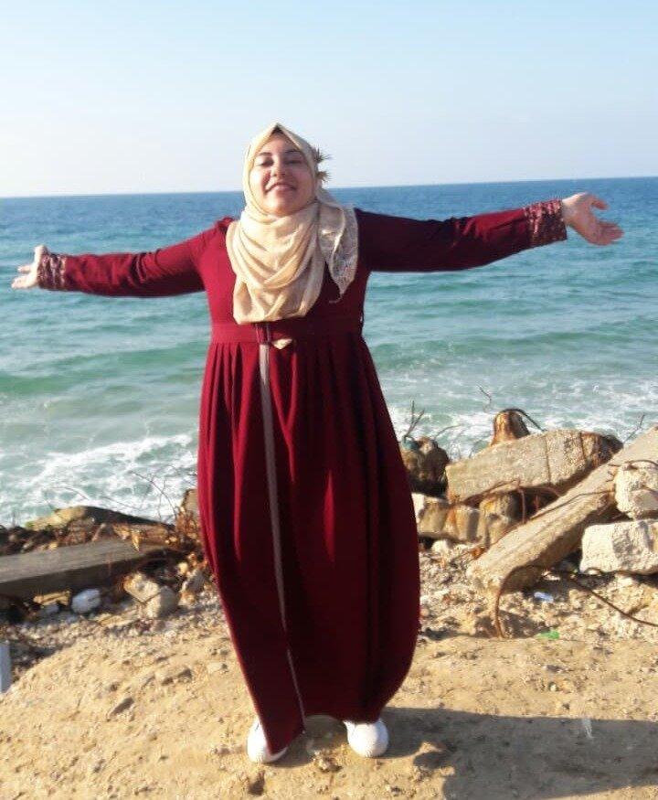 Zahra by the Gaza sea