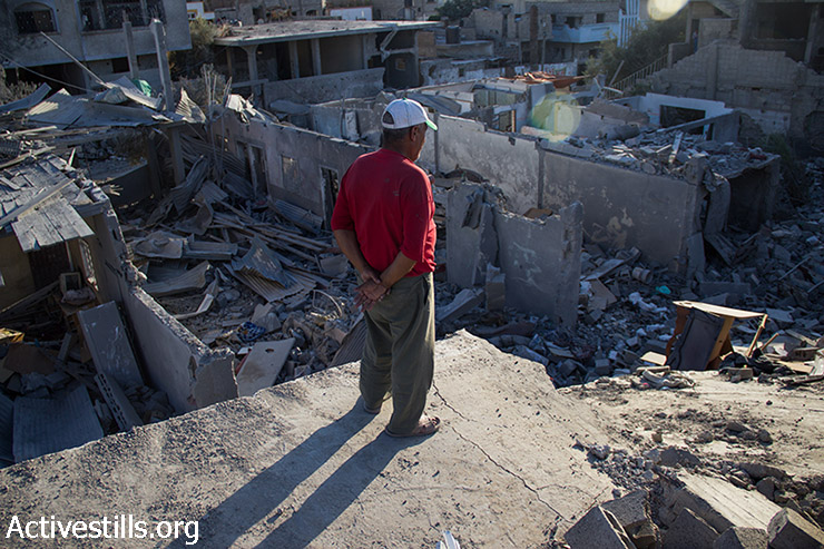 Neighborhood destroyed by war