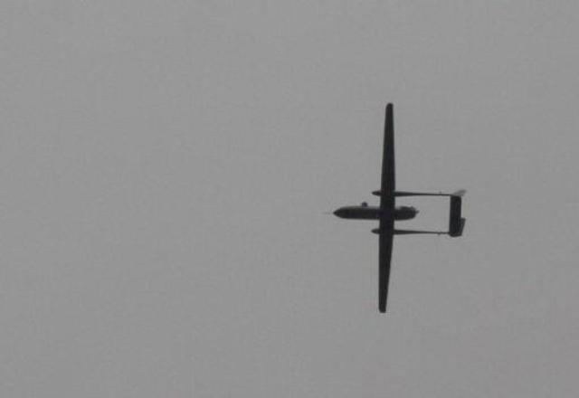 Drone in gray sky