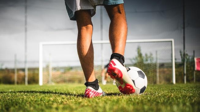 soccer player's legs