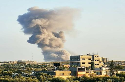 bomb hitting building