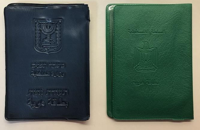 blue and green passport IDs